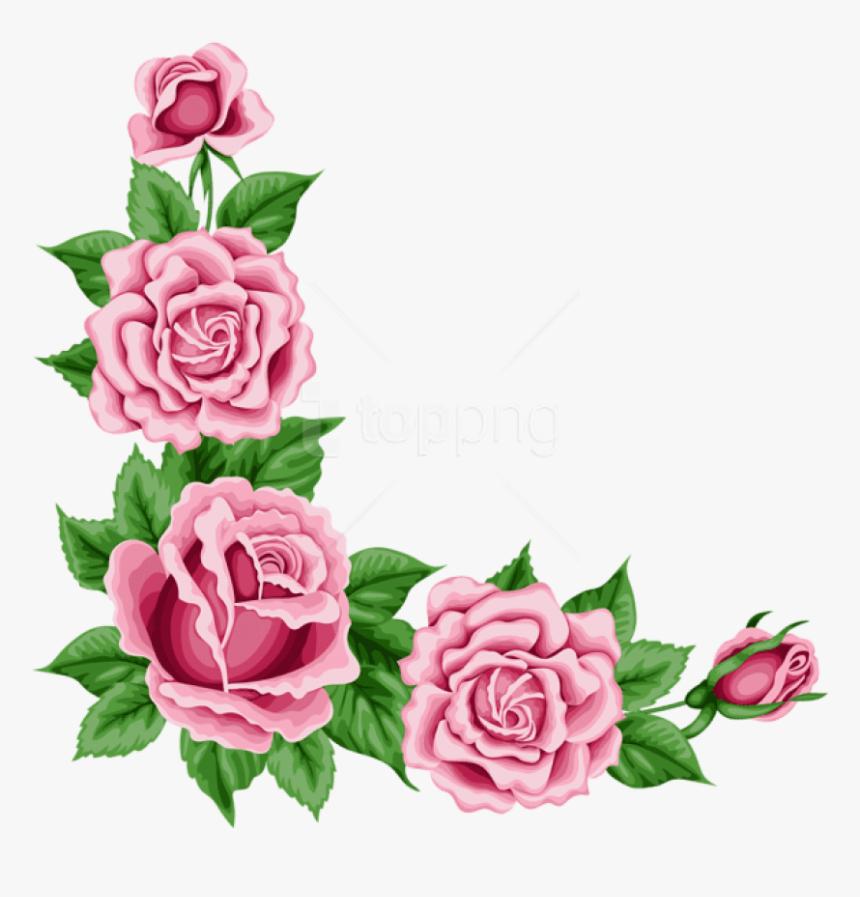 Free Png Roses Corner Decorationpicture Png Images - Flower Corner Border Png, Transparent Png, Free Download