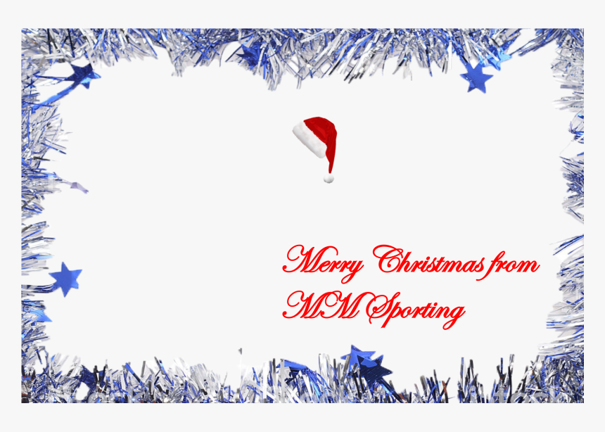 Transparent Merry Christmas Banner Png - Silver Tinsel Border Free, Png Download, Free Download