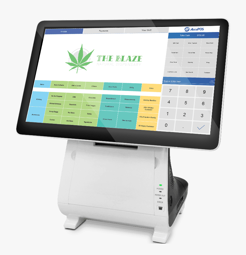 Accupos Optimized Pos System For Medical Dispensaries - Electronics, HD Png Download, Free Download