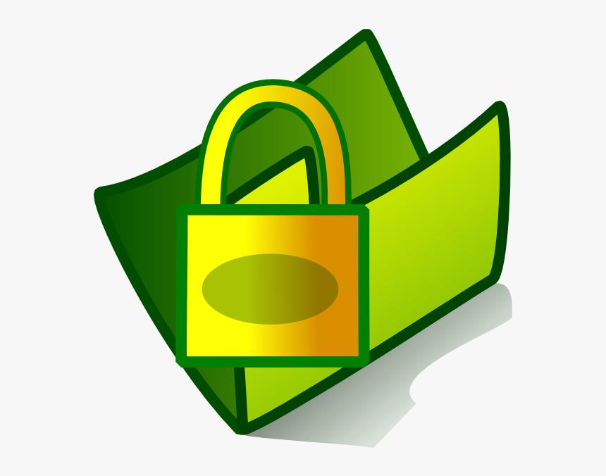 Folder Locked Svg Clip Arts - Icon For Pc Folder, HD Png Download, Free Download