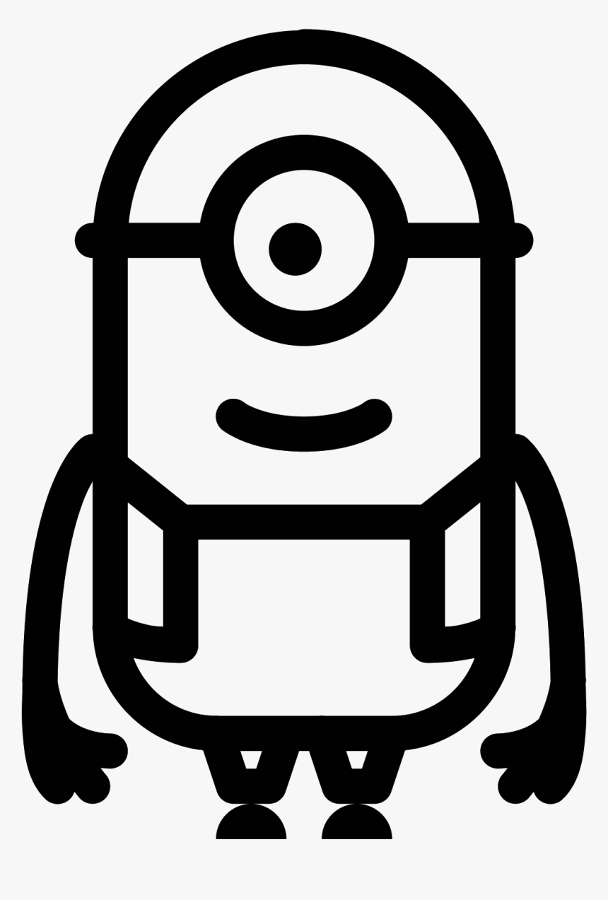 Minion Icon Png Clipart , Png Download - Black And White Minion Vector, Transparent Png, Free Download