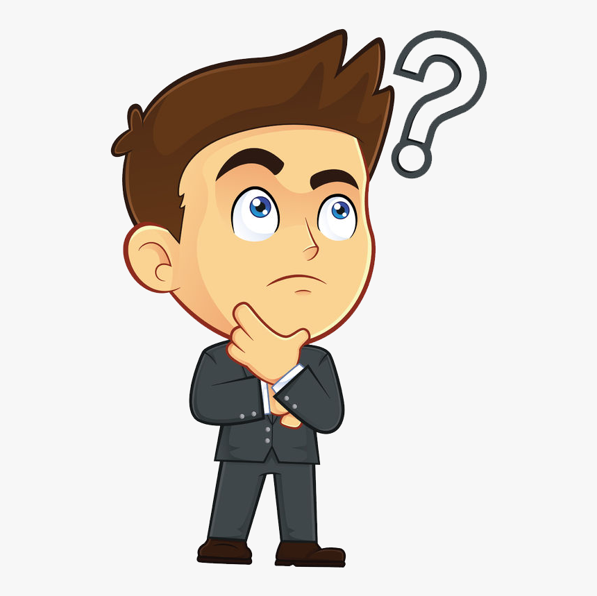 Clip Art Person Wondering - Male Cartoon, HD Png Download - kindpng