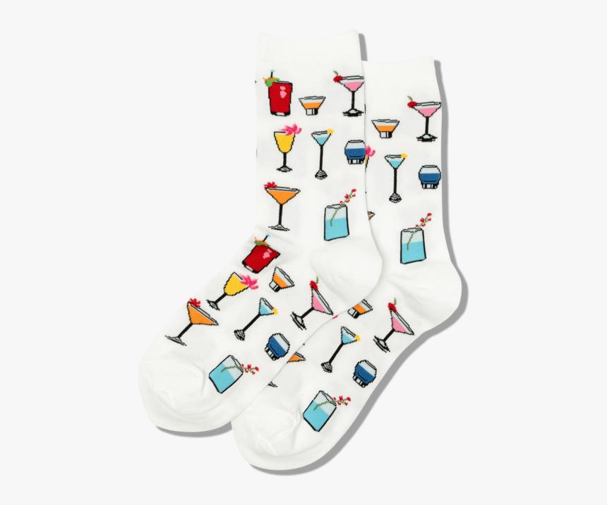 "Women""s Tropical Drinks Crew Socks""  Class=""slick Lazy - Sock, HD Png Download, Free Download"