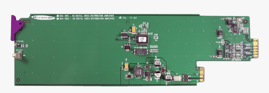 Grass Valley Hda 1851 3ru Hd/sd/asi Da With Eq For - Electronic Component, HD Png Download, Free Download