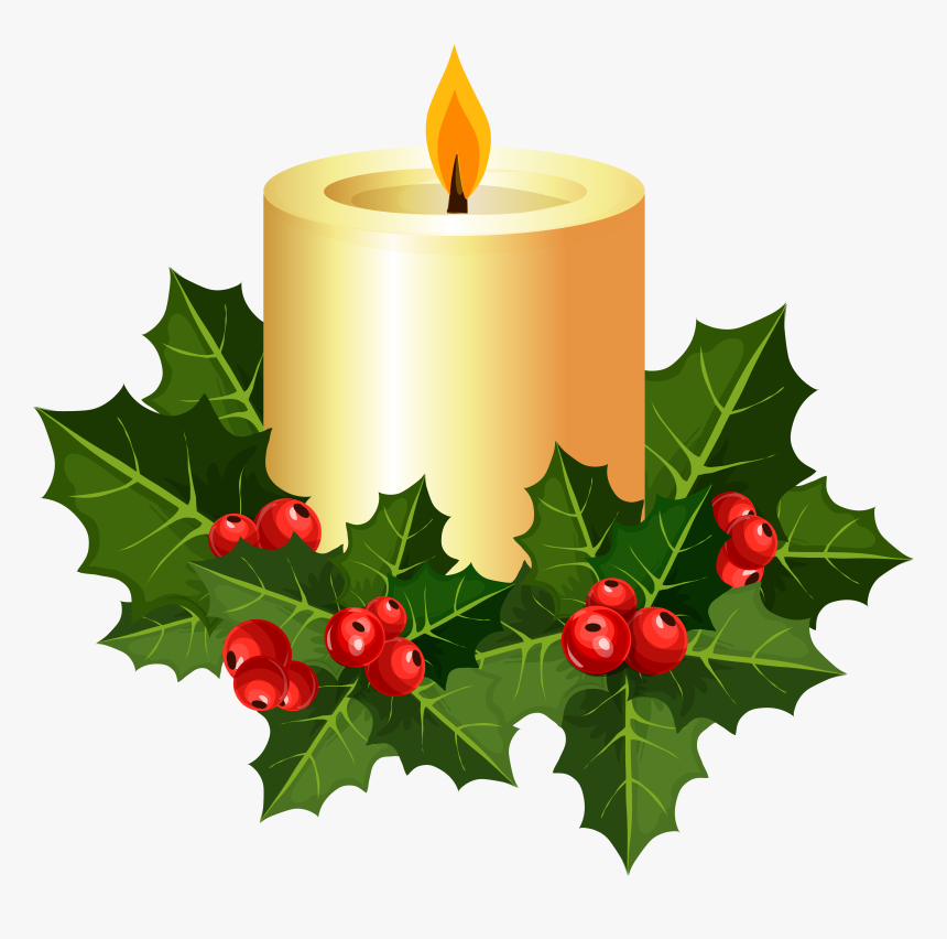 Christmas Candle Clipart At Getdrawings , Png Download, Transparent Png, Free Download