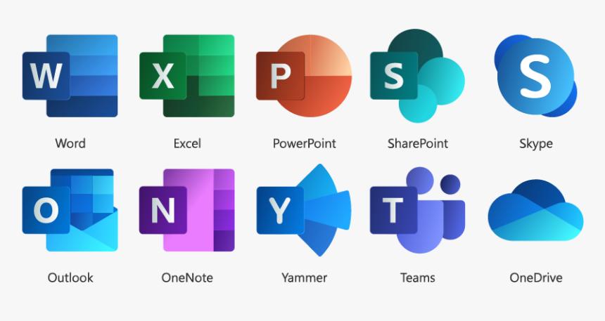 Office 365 Applications - Microsoft 365 Transparent Logo, HD Png ...