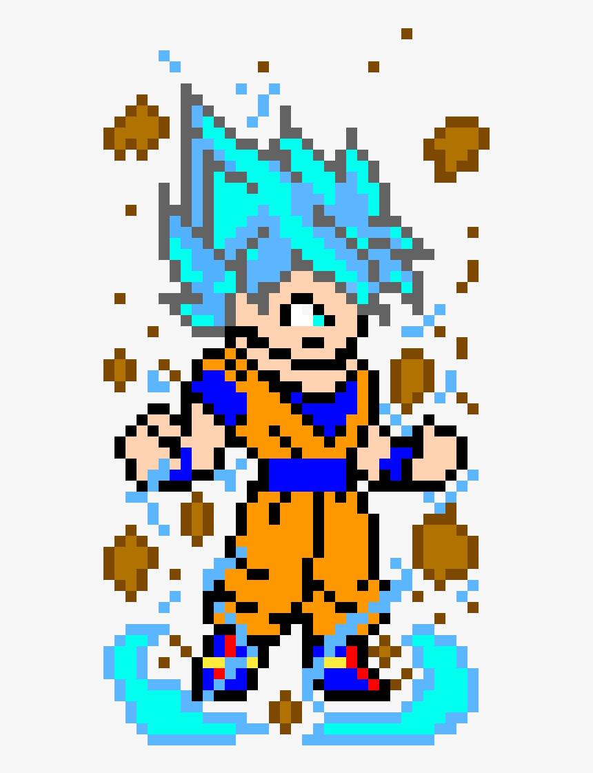 Goku Super Saiyan Blue Goku Super Saiyan Blue Pixel Art
