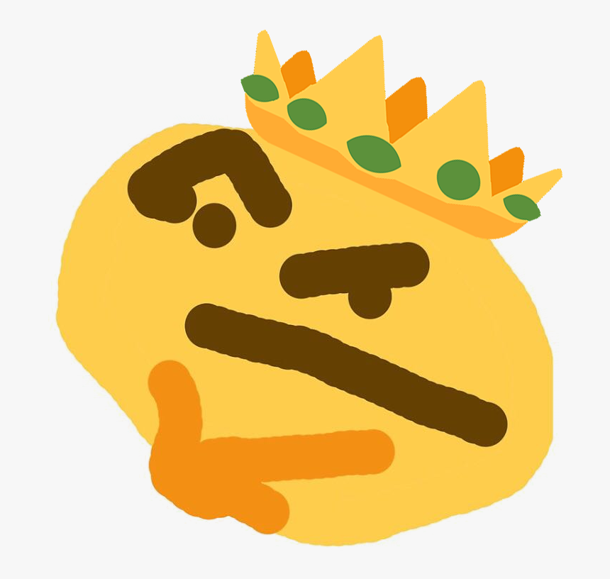 Thinking Face Meme Png - Thinking Emoji Distorted Png, Transparent Png, Free Download