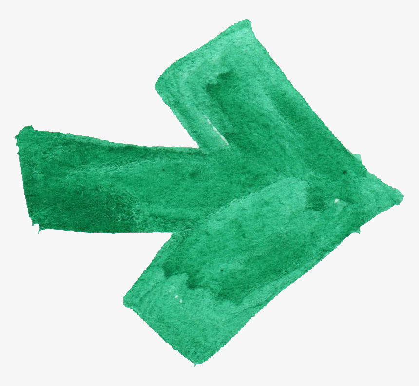 Green Arrow Png - Arrow Brush Stroke Png, Transparent Png, Free Download