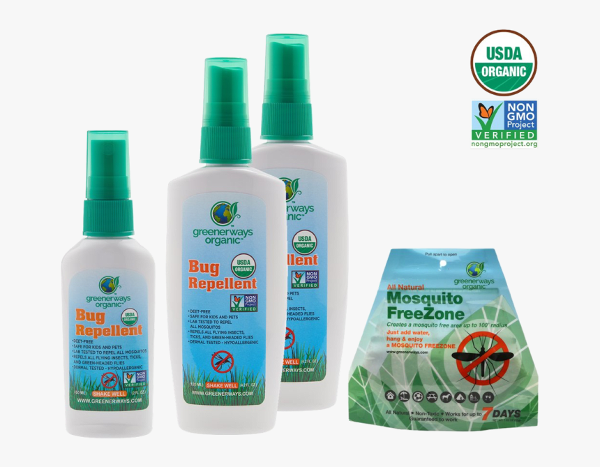 Greenerways Organic All Natural Mosquito Freezone, HD Png Download, Free Download