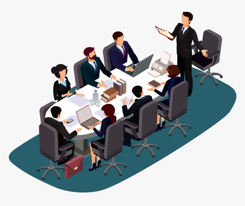 Clip Art Board Meeting, HD Png Download - kindpng