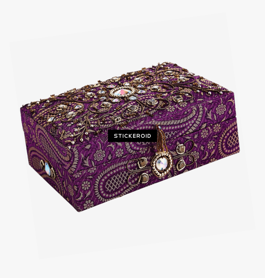 Embroidered Jewelry Box - Pier 1 Jewelry Box, HD Png Download, Free Download