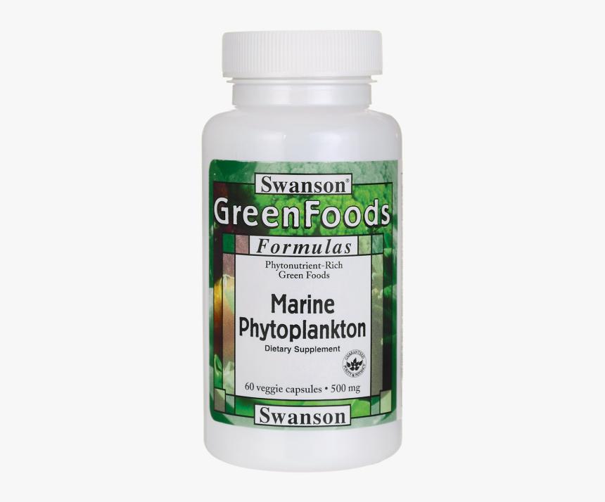 Swanson Marine Phytoplankton 500 Mg 60 Veg Caps - Momordica Charantia, HD Png Download, Free Download