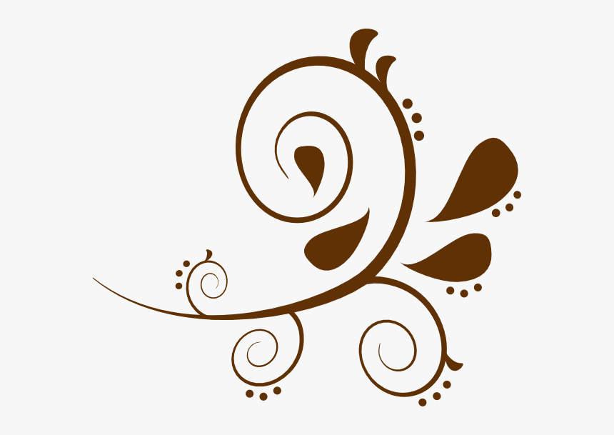 Brown Paisely Clip Art At Clker Com - Brown Swirl Clip Art, HD Png Download, Free Download