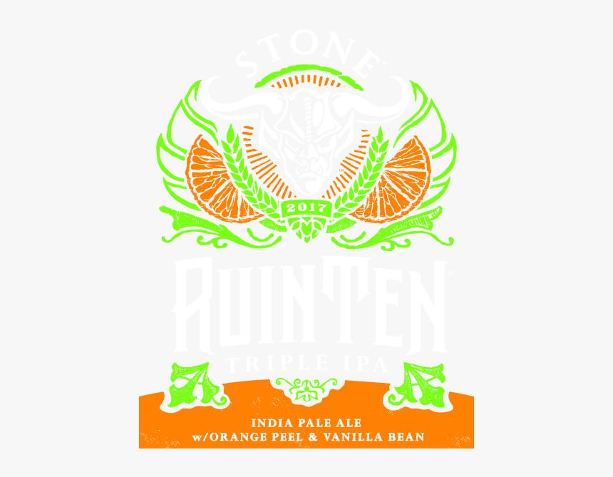Stone Ruinten Triple Ipa W/orange Peel & Vanilla Bean, HD Png Download, Free Download