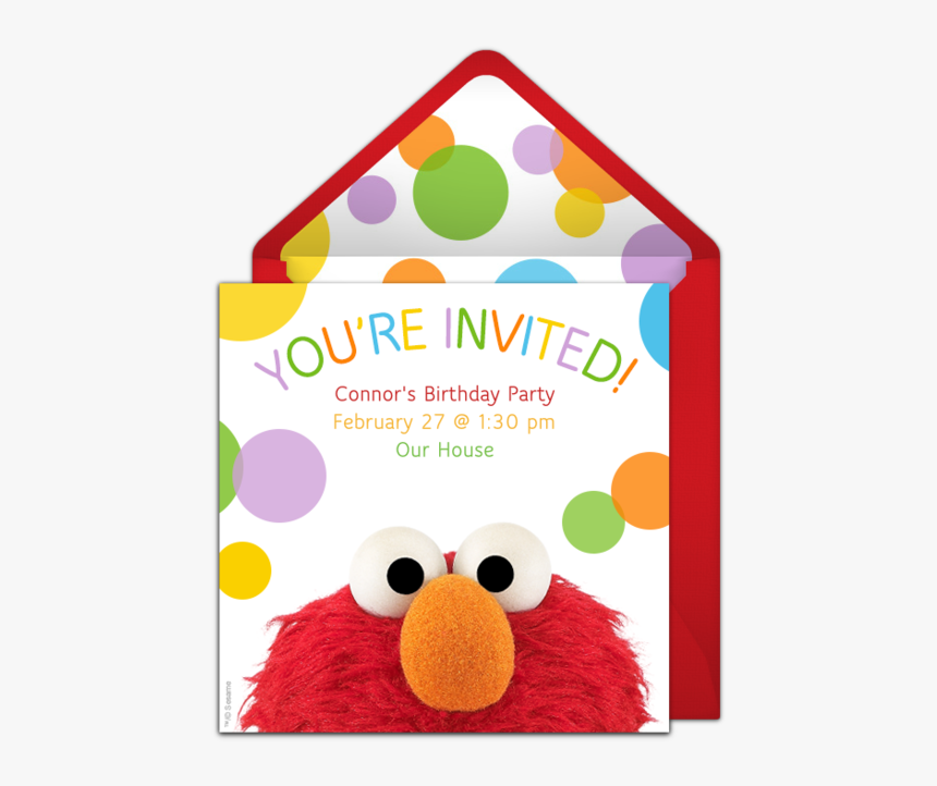 Elmo 2nd Birthday Party Invitations, HD Png Download, Free Download