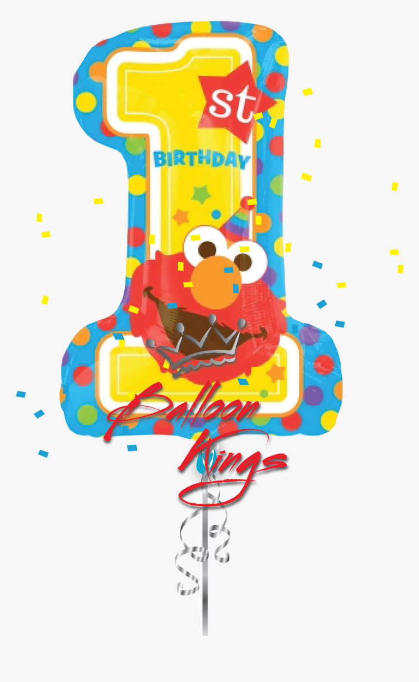 Elmo One - 28 Sesame Street 1st Birthday Balloon, HD Png Download, Free Download