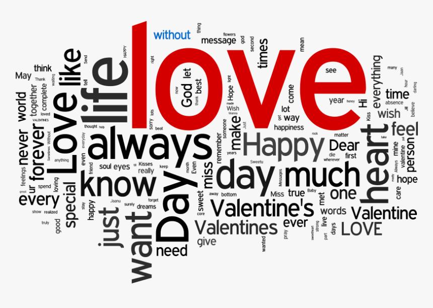 Attribute Wordle Transparent - Transparent Valentines Word Art Png, Png Download, Free Download