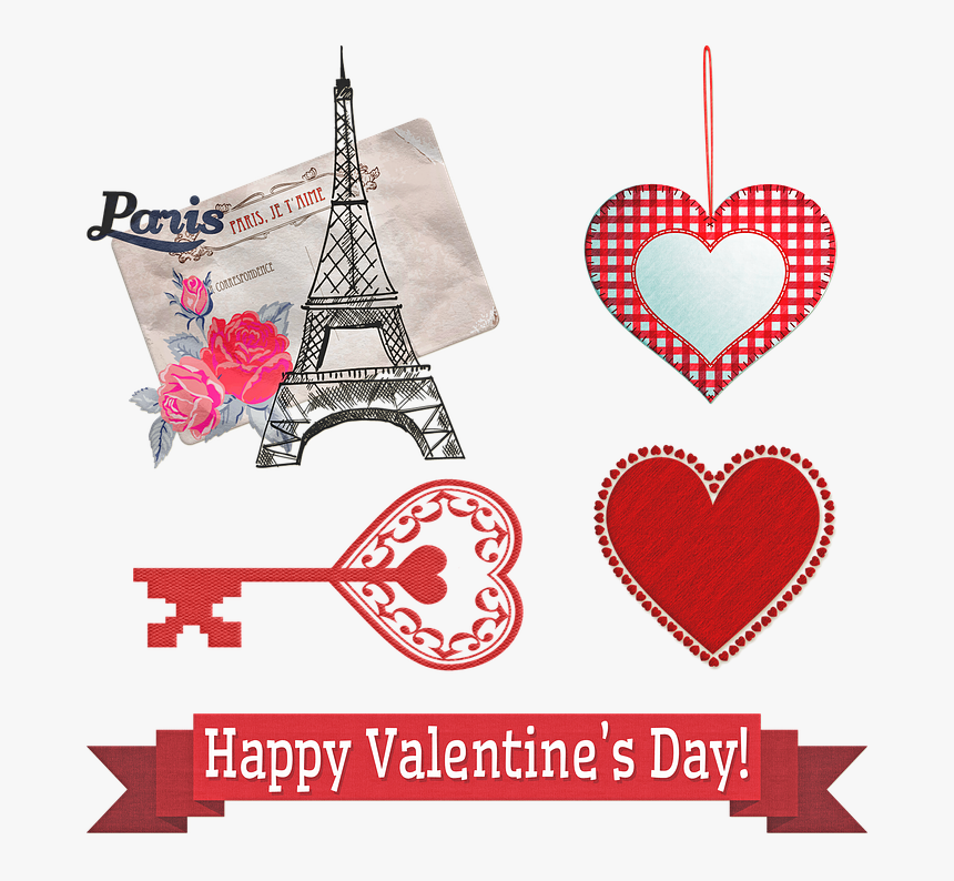 """Valentine""""s Day Décor, Hearts, Happy, Decoration, Heart - Imagenes De Happy Valentines Day, HD Png Download, Free Download"""