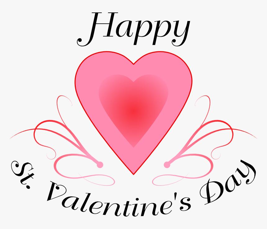 Clip Art Happy St Valentines Day - Happy St Valentine's Day Clipart, HD Png Download, Free Download