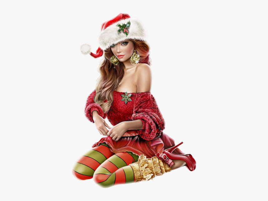 Girl Santa Hat Transparent, HD Png Download, Free Download