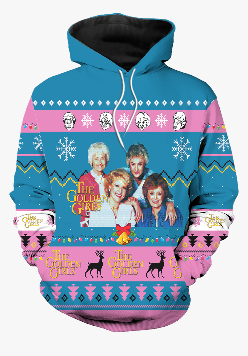 The Golden Girls American Sitcom Ugly Christmas All - Men's Golden Girls Ugly Christmas Sweater, HD Png Download, Free Download