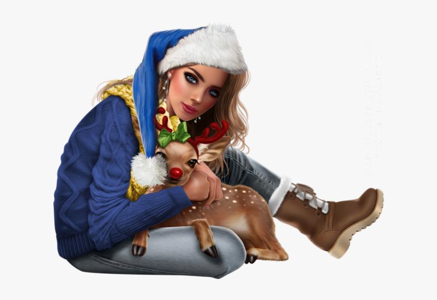 Tubes Femmes Noel - Girl, HD Png Download, Free Download