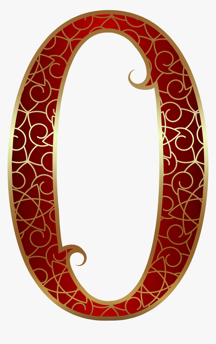 Gold Red Number Zero Png Clip Art Transparent Png , - Gold Red Number Png, Png Download, Free Download
