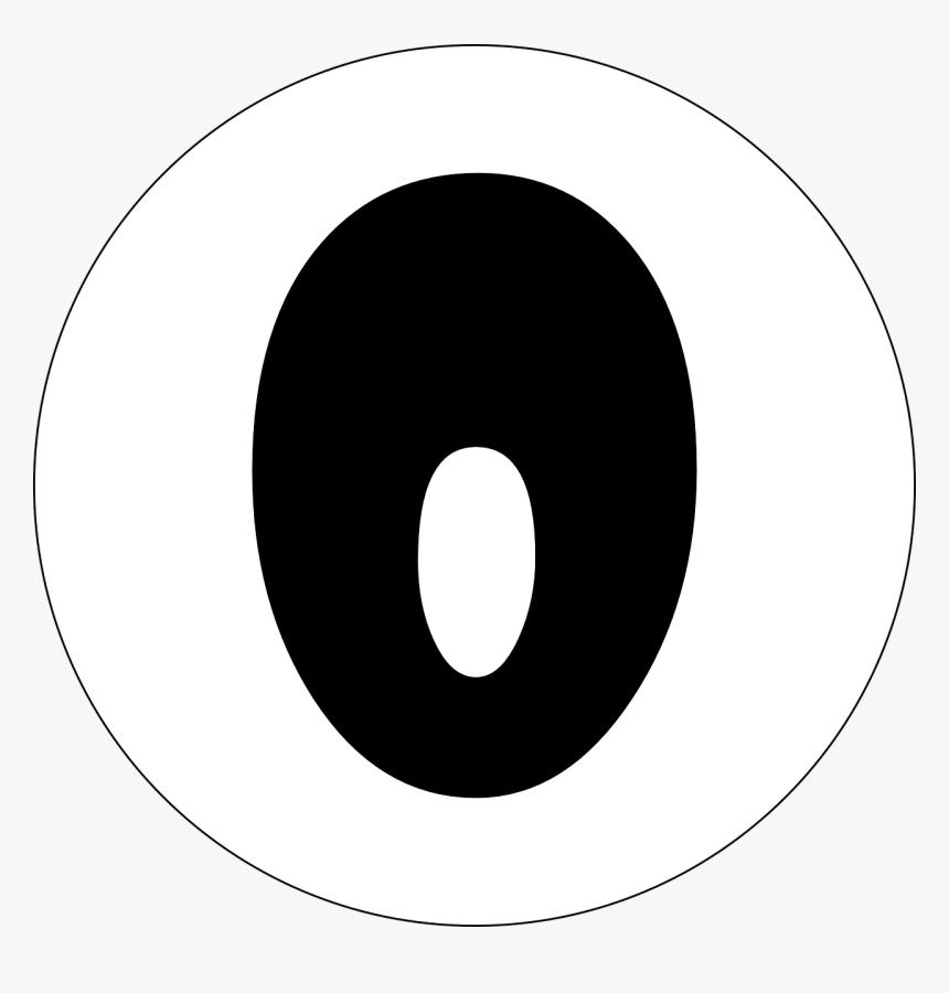 Zero, Null, 0, None, Number, Numeral, Typography - Gambar Angka 8 Hitam Putih, HD Png Download, Free Download