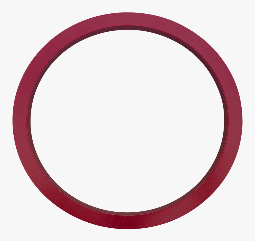 House Numbers Contemporary In Red 0 Zero - Circle, HD Png Download, Free Download