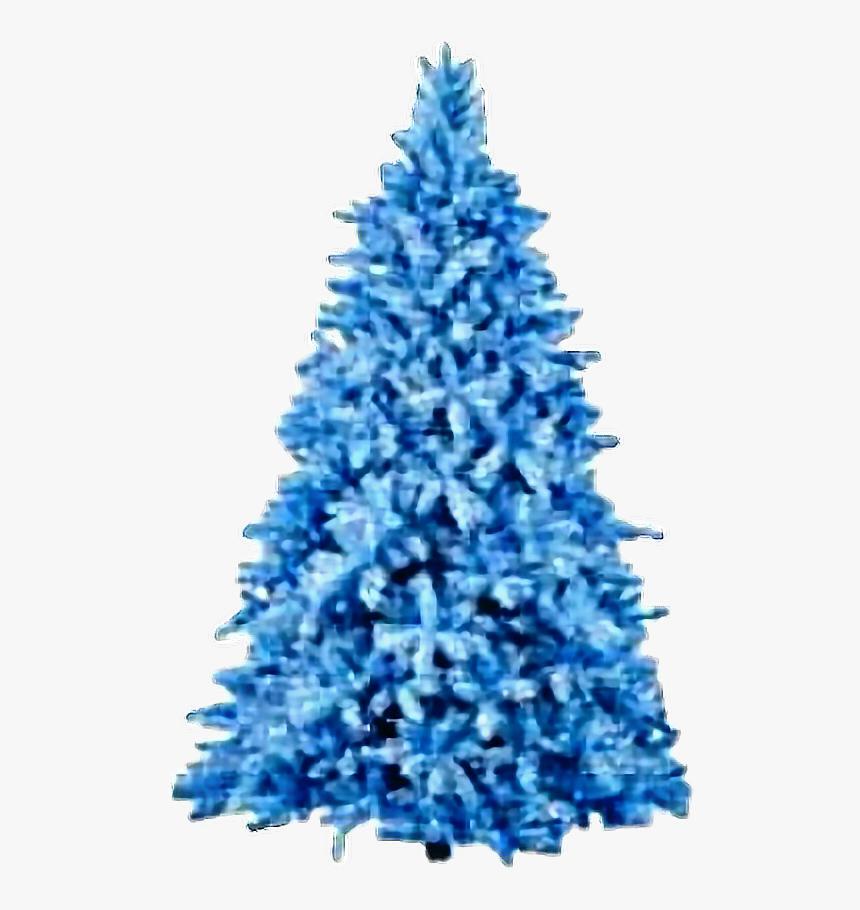 #blue #tree #christmas #christmastree #freetoedit - Blue Christmas Tree, HD Png Download, Free Download