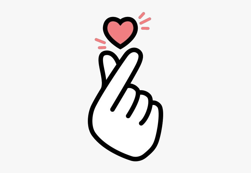 Korean Love Sign, HD Png Download - kindpng