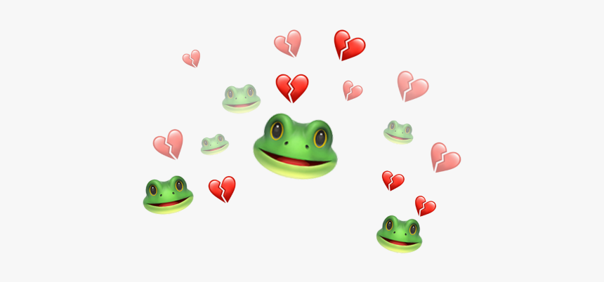 #iphone #emoji #frog #heart #broken #brokenheart #green, HD Png Download, Free Download