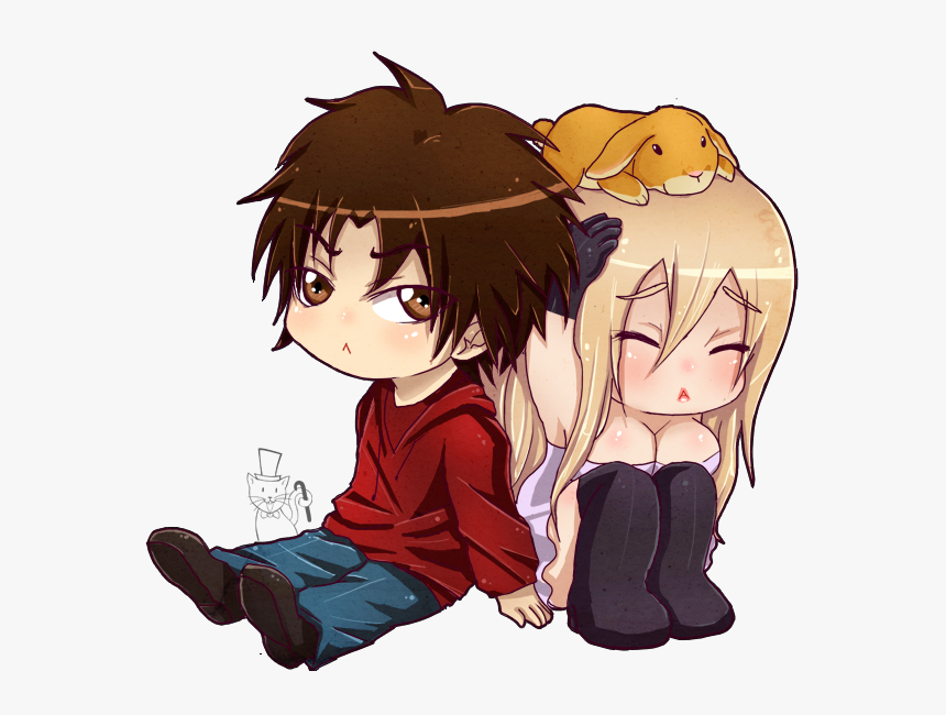 Anime Girl And Boy Hugging Pictures And Cliparts Download - Chibi Anime Girl And Boy, HD Png Download, Free Download