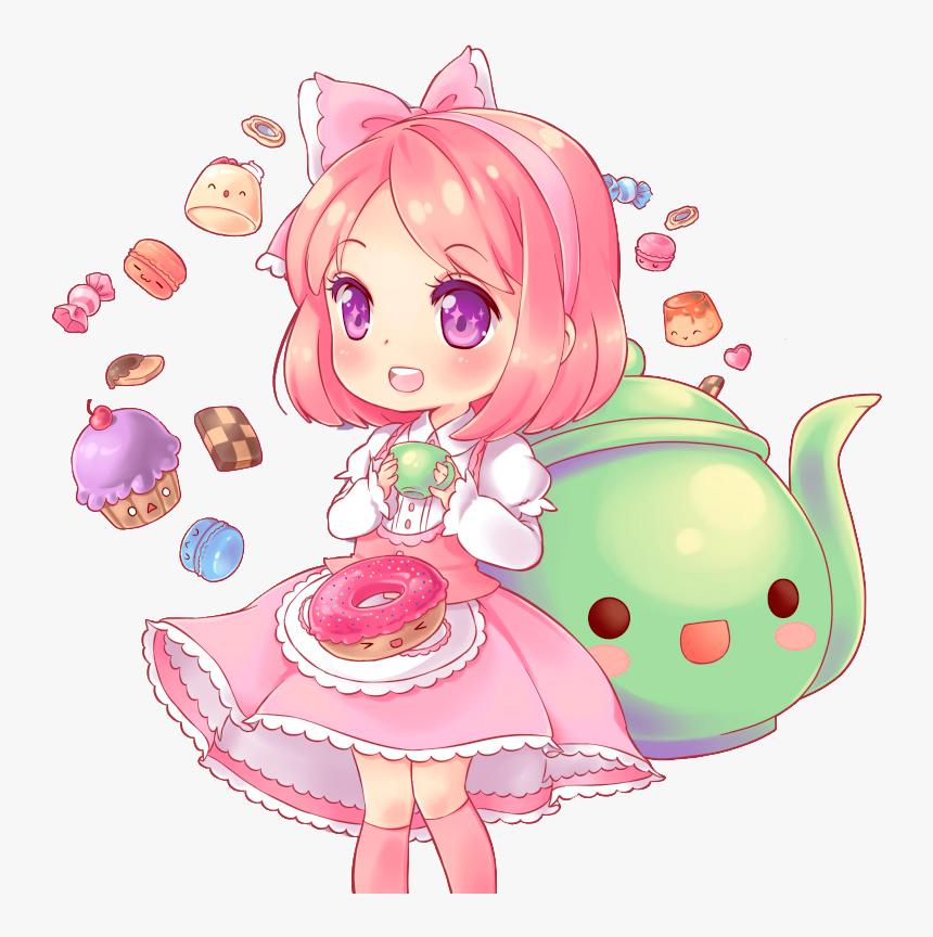 Chibi Sweet Girl - Sweet Chibi Anime Girl, HD Png Download, Free Download