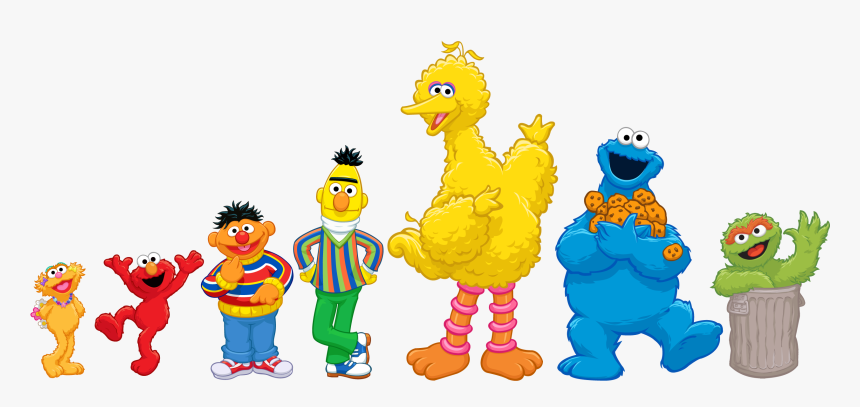 Diaper Clipart Elmo - Sesame Street Characters Cartoon, HD Png Download, Free Download