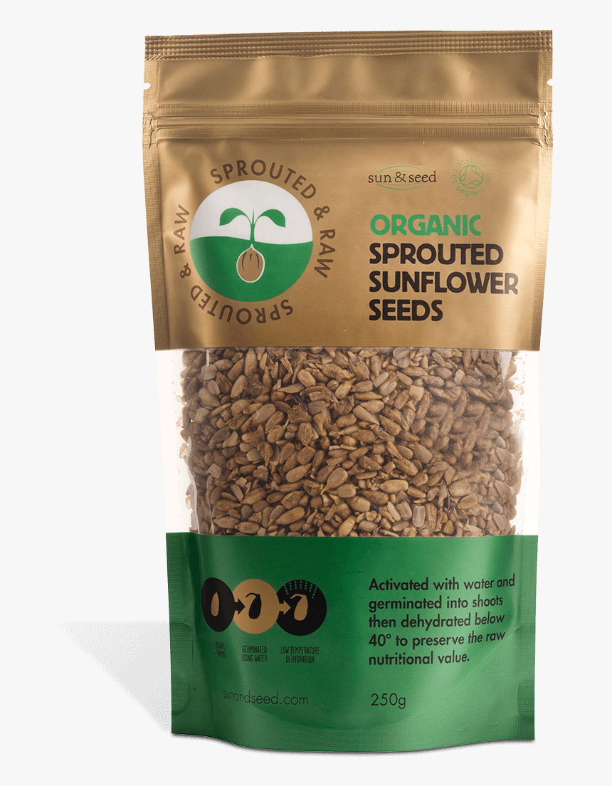 Sprouted & Raw Organic Sunflower Seeds 250g - Graines De Tournesol Germées Bio, HD Png Download, Free Download