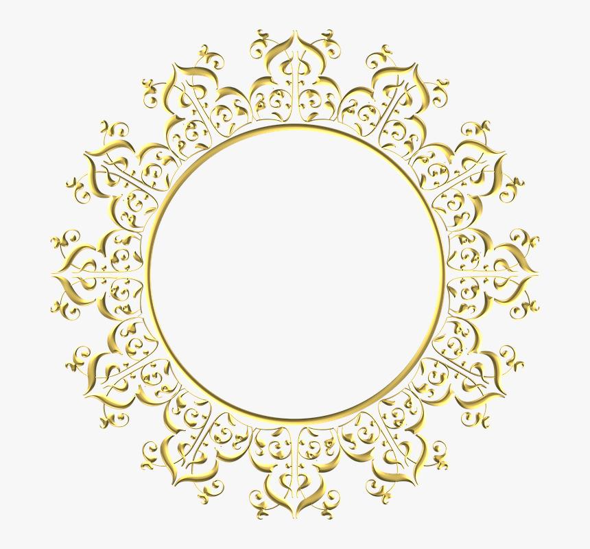 Gold, Frame, Round, Border, Decoration, Decor - Circle Background Design Png, Transparent Png, Free Download