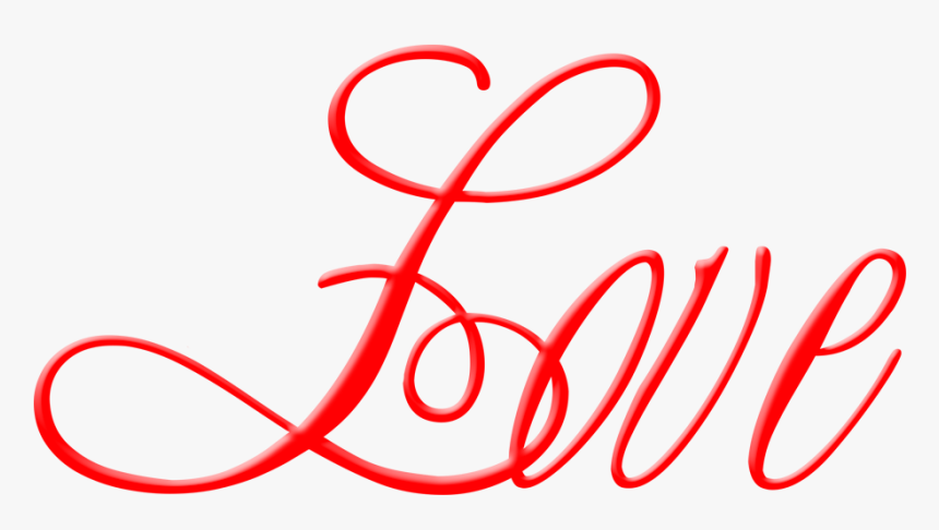 Love Png Calligraphy - Romantic Husband Valentine Day, Transparent Png, Free Download