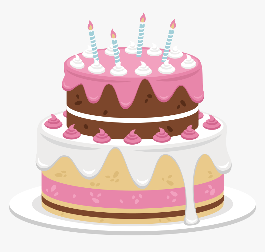 Pink Birthday Cake Png Cute Birthday Cake Png Transparent Png Kindpng