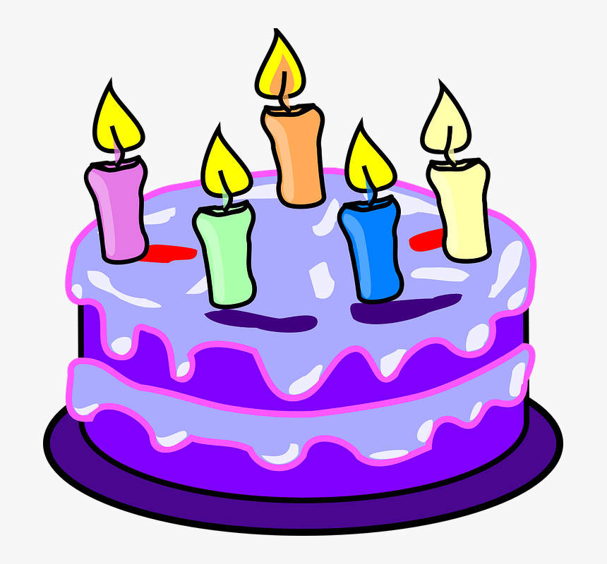 Cake Candles Birthday - Birthday Cake Clipart, HD Png Download, Free Download