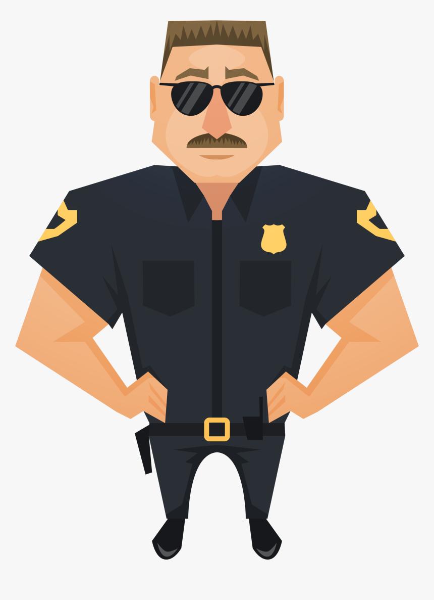 Judge Police Officer Handsome Download Hd Png Clipart - Clipart Police Officer Png, Transparent Png, Free Download