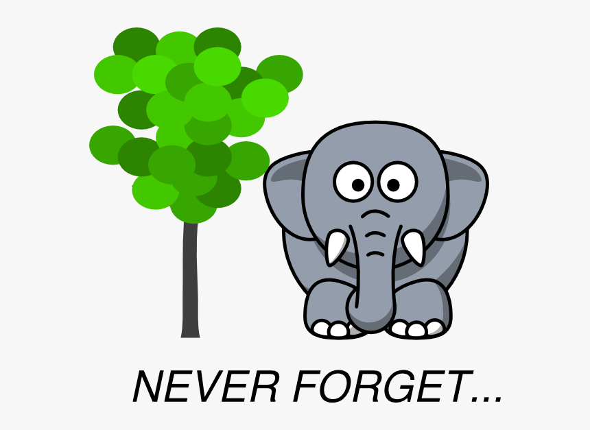Elephants Never Forget Cartoon, HD Png Download, Free Download