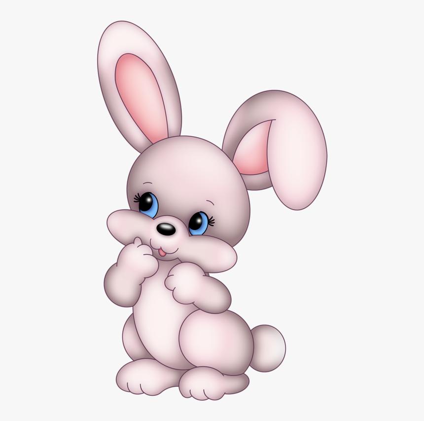 Easter Bunny Rabbit Cartoon Cuteness Clip Art - Rabbit White Png Cartoon, Transparent Png, Free Download