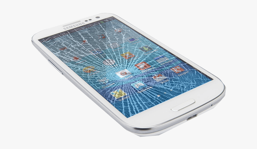 Transparent Cracks Mobile Glass - Crack Cell Phone Screen, HD Png Download, Free Download