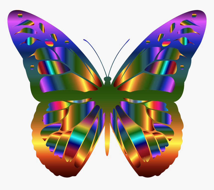 Iridescent Monarch Butterfly 13 Clip Arts - Beautiful Butterfly Clip Art, HD Png Download, Free Download