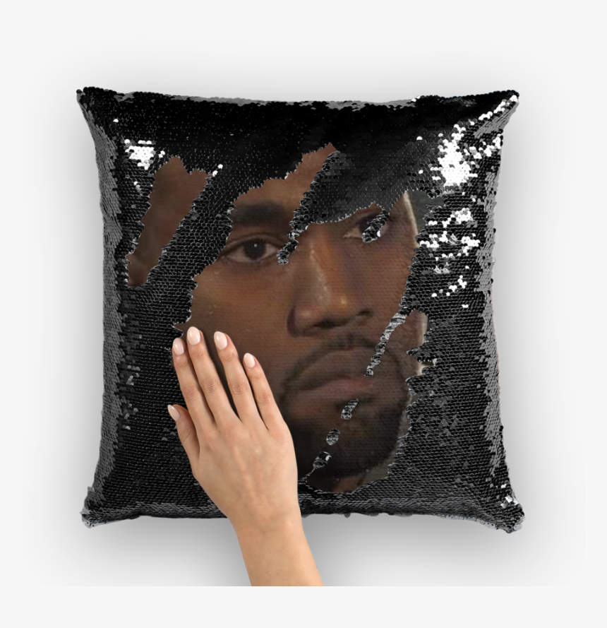 Transparent Kanye Face Png - Nic Cage Sequin Pillow, Png Download, Free Download