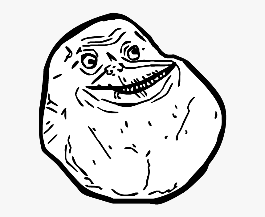 Clipart Royalty Free Download Known By Me Forever Alone - Troll Face Forever Alone, HD Png Download, Free Download