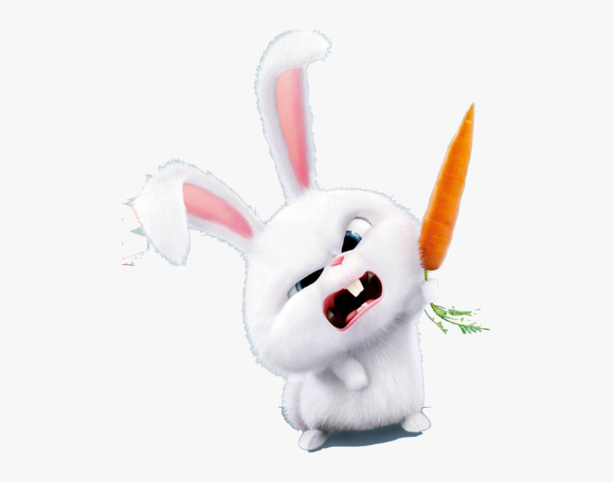 And Hares,tail,plush,stuffed Toy,illustration,clip - Snowball Secret Life Of Pets Png, Transparent Png, Free Download