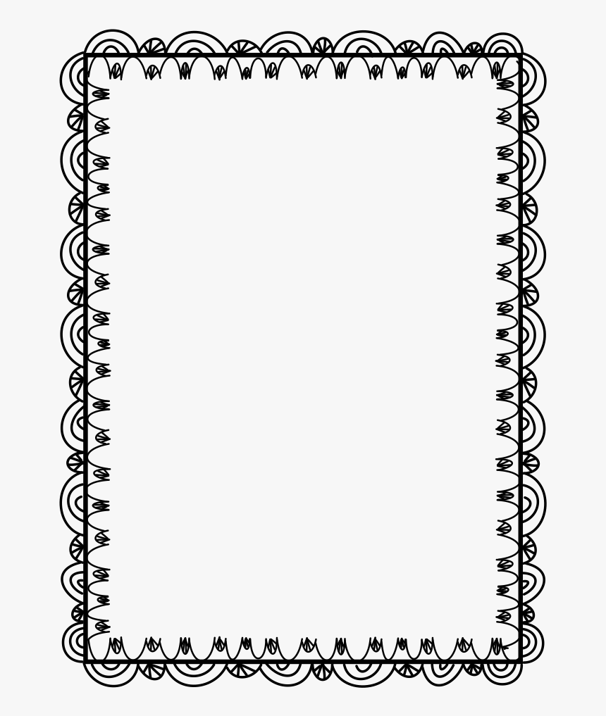 Fun Border Black And White, HD Png Download, Free Download
